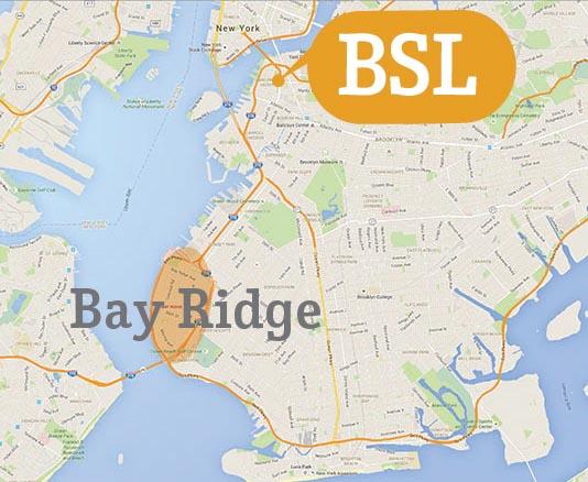 Accommodation Map Bay Ridge