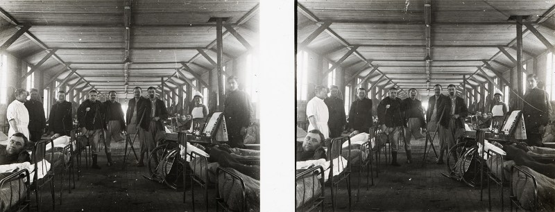 A field hospital in France, much like the one Wilfred Owen mentions in the above letter, photographed by A. O. Fasser, an American surgeon who came over to give aid during the Great War. Courtesy of the Boyd/Jordan Collection,