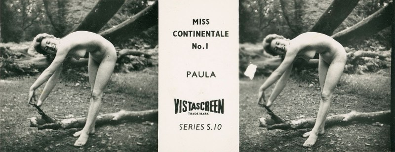 "An S-series ""Miss Continentale"" card from the VistaScreen Series List."
