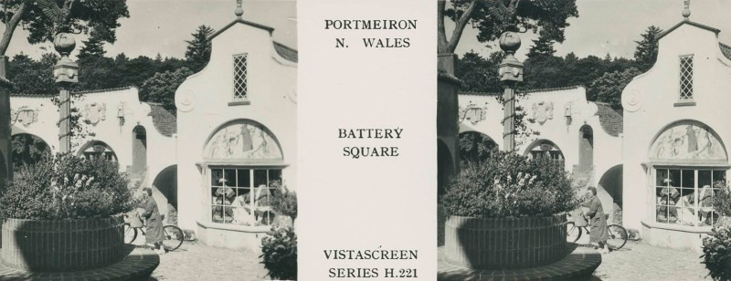 VistaScreen's view of Battery Square in Portmeirion