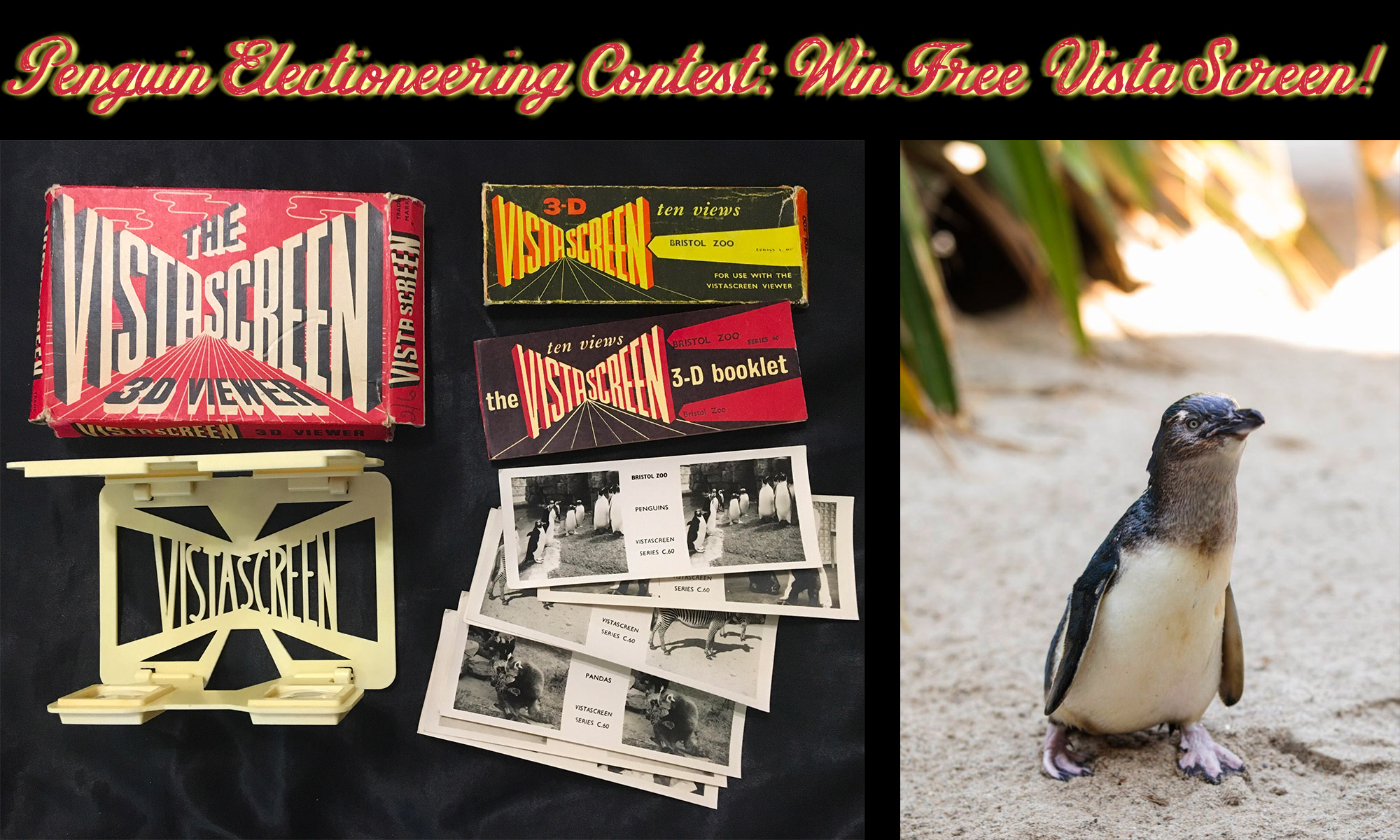 Penguin Electioneering Contest: Win a VistaScreen Viewer and Cards!