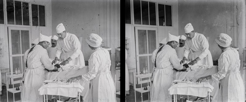 Stereoview (stereoscopic image) for a blog post on Armistice Day 2019
