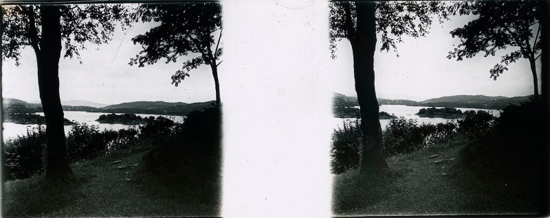 Random European Glass Stereoview #13