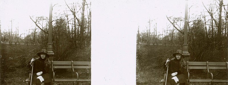 Random European Glass Stereoview #40