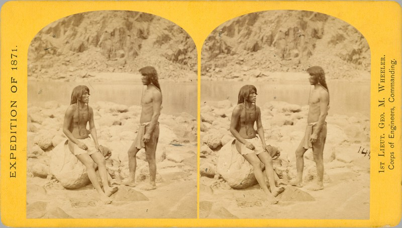 A T. H. O'Sullivan portrait of two indigenous peoples, taken on the 1871 Wheeler Expedition (his first)