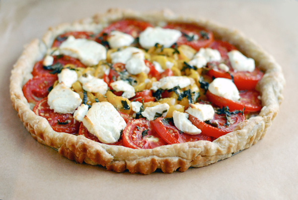 tomato chevre tart // brooklyn supper