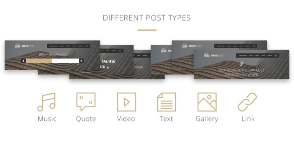 Different post types