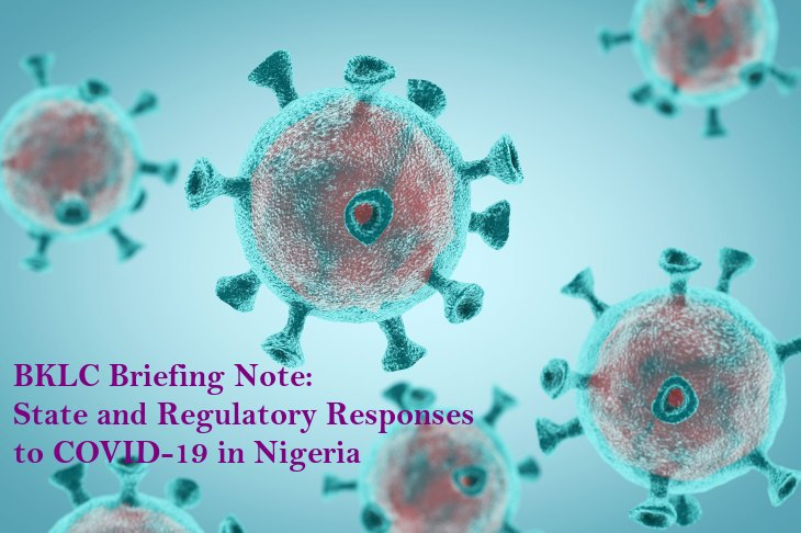 State and Regulatory Responses to COVID-19 in Nigeria