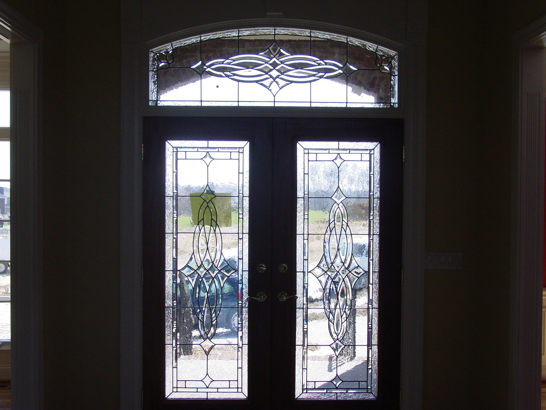 Beveled Glass Front Doors, Leaded, Stained Glass, Entry