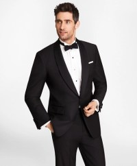 Men's Black One-Button Shawl Collar Tuxedo Jacket | Brooks ...