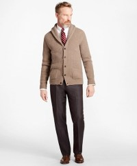Merino Wool Shawl-Collar Cardigan - BB AU Ecommerce