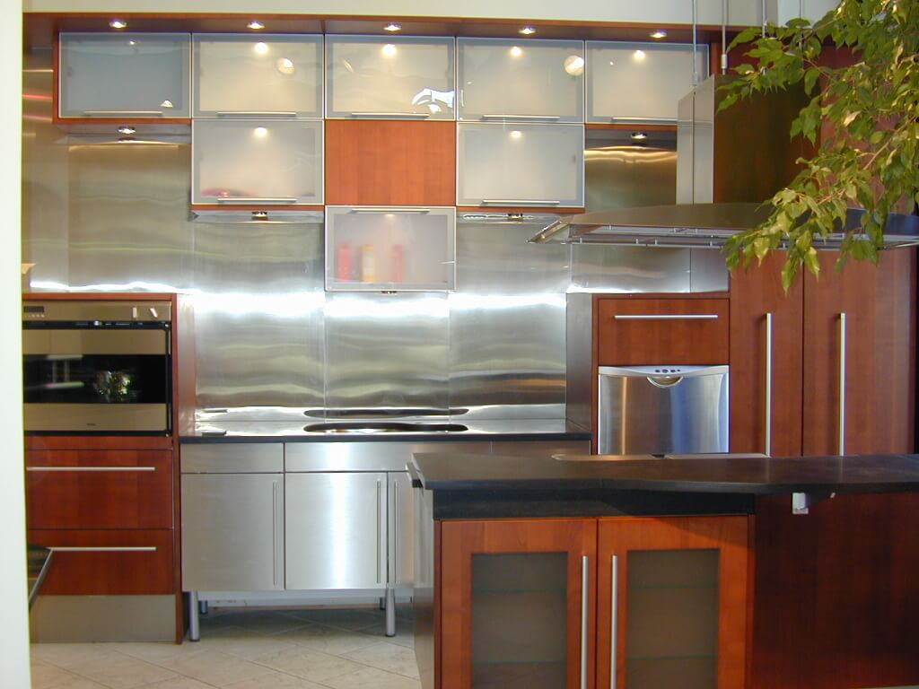 Brushed Stainless Steel Wall Panels