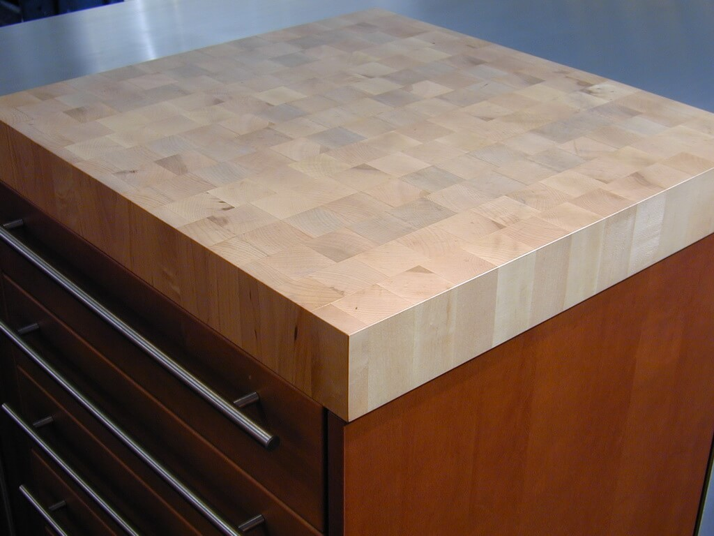Maple End Grain Butcher Block Wood Countertop