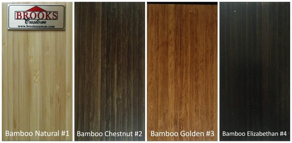 Wood Color Options  Brooks Custom