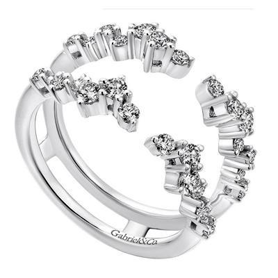 Diamond Zigzag Engagement Ring Jacket Brooks Diamonds