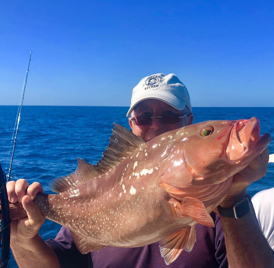 """Jeff Britt's 26.5"""" Red Grouper caught while fishing on the BFC 1/15/2020 Capt. Marvel Charter."""