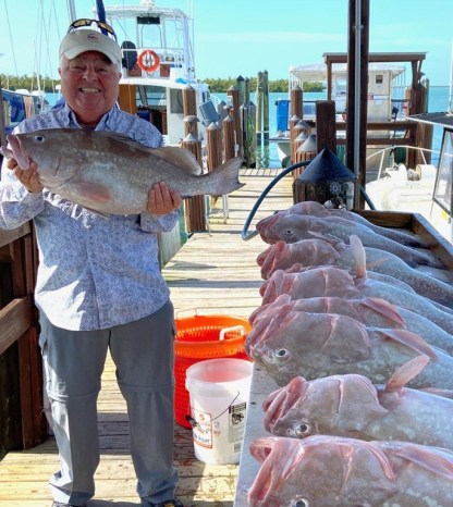 """Timo Dean's Personal Record: 27 1/2"""", 14 LBS, March 3 on The Capt. Marvel"""