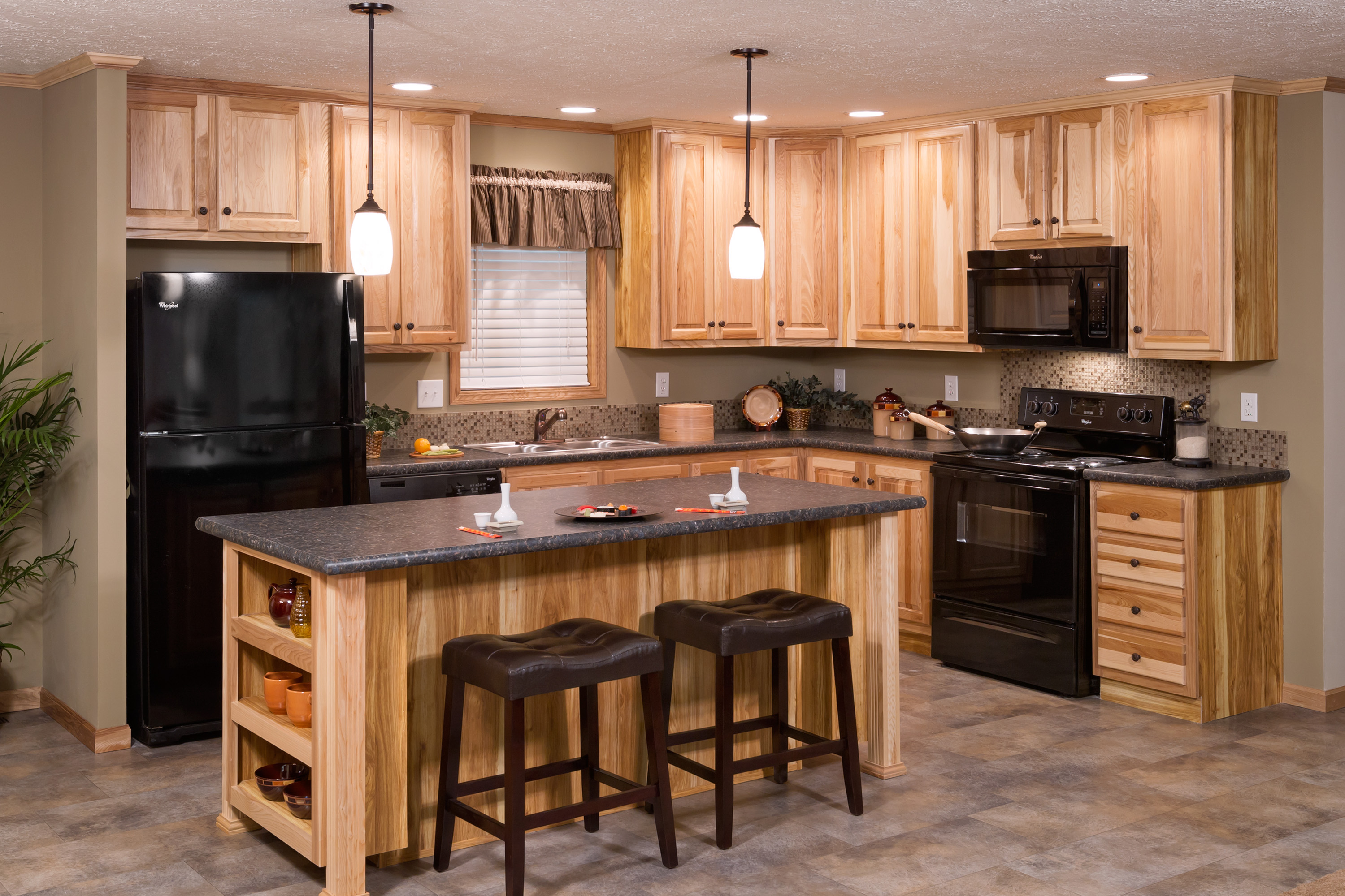 mobile home kitchen cabinets for sale pendant light fixtures redman model with hickory brooks village