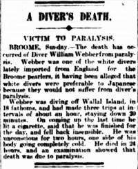 British Diver William Webber