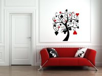 Poker Tree Amazing Black and Red Wall Art | Wall Stickers ...