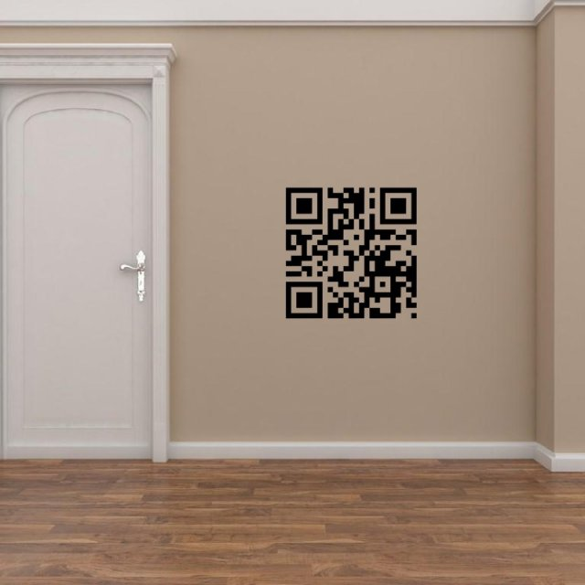 Personalised QR CODE stickers  Wall Stickers Store  UK shop with wall stickers wall decals