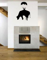 Banksy Cow Parachute