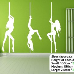 2 Piece Living Room Set Designs Indian House Of 3 Pole Dancers Silhouette - Large Wall Decorations ...