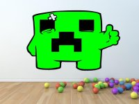 Minecraft Creeper ver.2 - Gamer's Room Colourful Wall ...