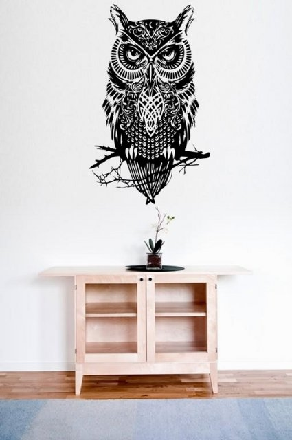 Amazing Owl  Large Wall Decal Sticker  Wall Stickers