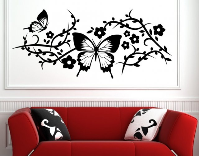 Black And Wall Decor Silver