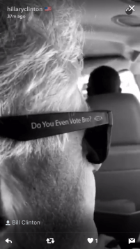 """President Bill Clinton tweeted out our """"Do You Even Vote Bro"""" slogan!"""