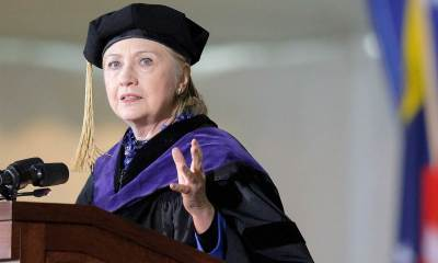 Back at Wellesley College nearly 50 years after giving her storied student graduation speech.