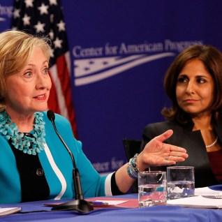 Neera Tanden and Hillary Clinton