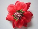 Bros murah kain bunga lily Merah