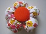 Bros Kain Murah Motif Bunga Kancing Orange