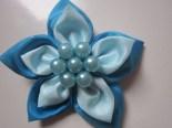 Bros Kain Cantik Bunga Rara Biru