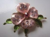 Bros Manik Cantik Bunga Jasmine Pink