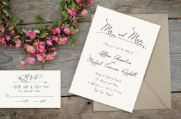Old World European Romance Classic Invites