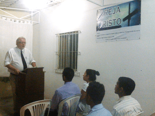 Randy Short at the Porta Larga congregation, Recife, Brazil
