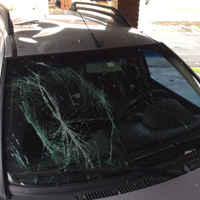 Editor escapes harm after car damaged in lightning incident