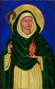 St. Brigid Icon Contemplative Musings