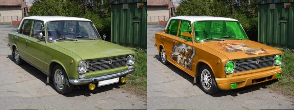 до и после тюнинга
