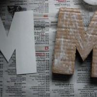 DIY. Буквы из картона