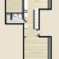 Квартира в Стокгольме, 60 кв.м.