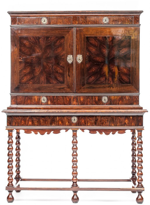 Cocuswood cabinet on stand