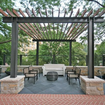 Simple Metal Pergola Broward County Fence