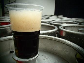 Coffee Milk Stout - Hera w niespełna tydzień po starcie fermentacji.
