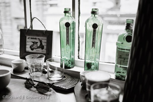 Glass and Green Bottles