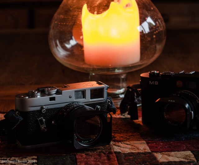 Leica M4 & M8 by Candle Light