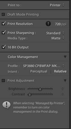 Lightroom Settings